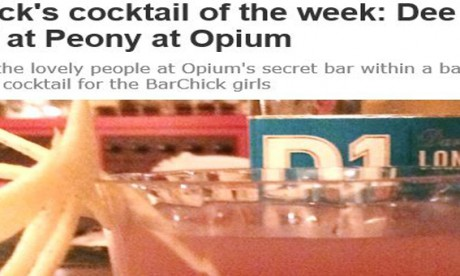 London Evening Standard features Dee One Martini